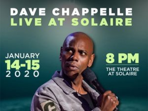 Be Ready to Laugh with Dave Chapelle Live at Solaire This January @ The Theater at Solaire