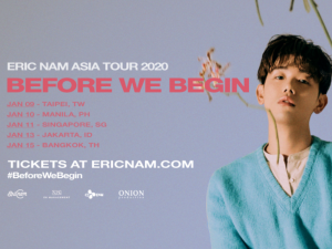 Eric Nam Brings 'Before We Begin' Asia Tour in Manila This January @ New Frontier Theater