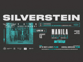 Silverstein Returns to Manila for 20th Anniversary This January