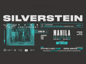 Silverstein Returns to Manila for 20th Anniversary This January @ SM Sky Dome