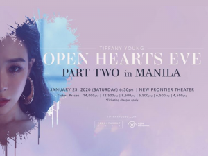 Tiffany Young Is Coming to Manila This January for 'Open Hearts Eve' Part Two @ New Frontier Theater