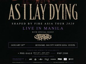 As I Lay Dying Returns to Manila for Shaped By Fire Asia Tour This January @ SM Skydome