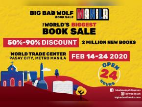 Big Bad Wolf Book Sale Returns to Manila This February