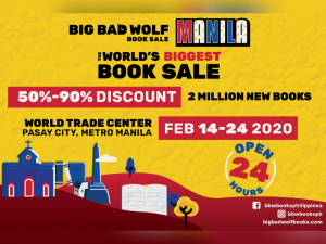 Big Bad Wolf Book Sale Returns to Manila This February @ World Trade Center