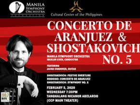 Manila Symphony Orchestra Presents Concerto de Aranjuez and Shostakovich 5 This February