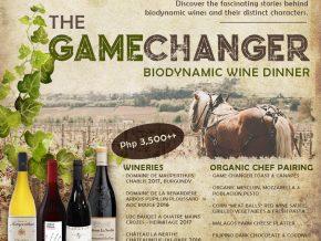 Happy Living & Dr. Wine Host The Gamechanger Biodynamic Wine Dinner on March 12