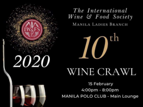 The 10th Wine Crawl by IWFS Manila Ladies Is Happening on February 15