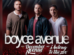 Catch Boyce Avenue in Manila in February 2020 @ Smart Araneta Coliseum