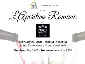 Experience Rome Through Fine Wines at L'Aperitivo Romano This February