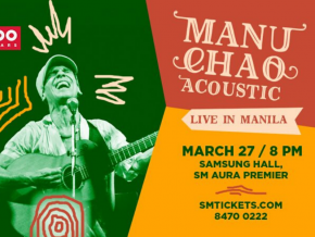 French-Spanish Artist Manu Chao Performs Live in Manila on March 27