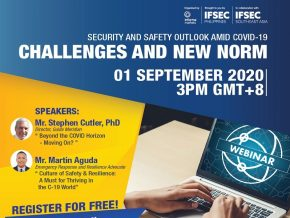 IFSEC Philippines to Hold 1st Webinar on Security and Safety Outlook Amid COVID-19 This September