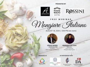 ICCPI to Host Mangiare Italiano Webinar on August 18