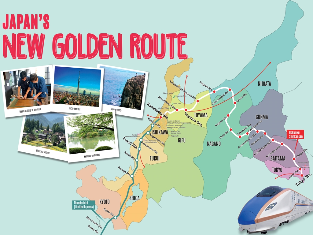 Explore Japan's Hokuriku Region through the New Golden Route