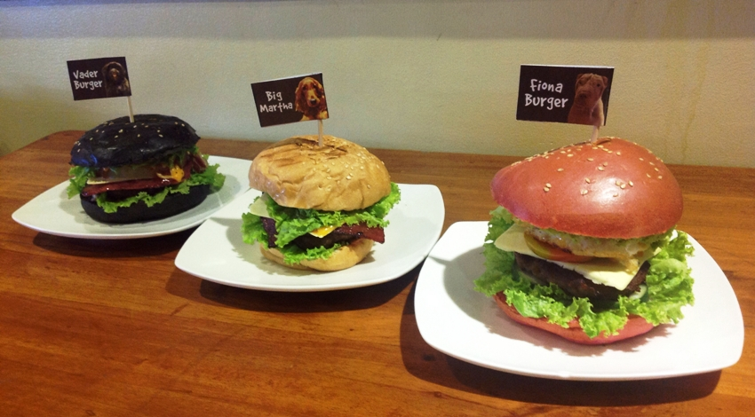 PHOTO 5 Vader Burger (P 150), Big Martha Burger (P 150), Fiona Burger (P 150)