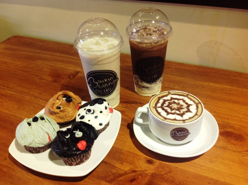 PHOTO 7 (L_R) Cupcakes, Cold Milk Tea (P 75) and Caffe Latte (P 100)