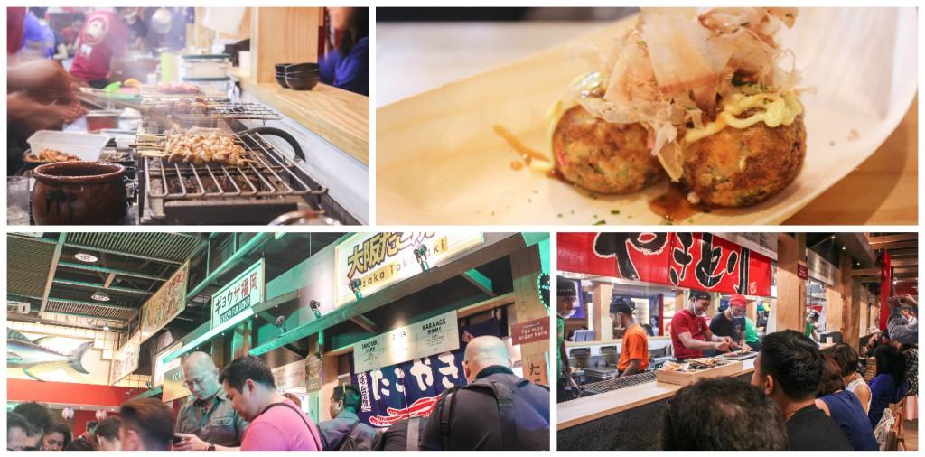 street food collage