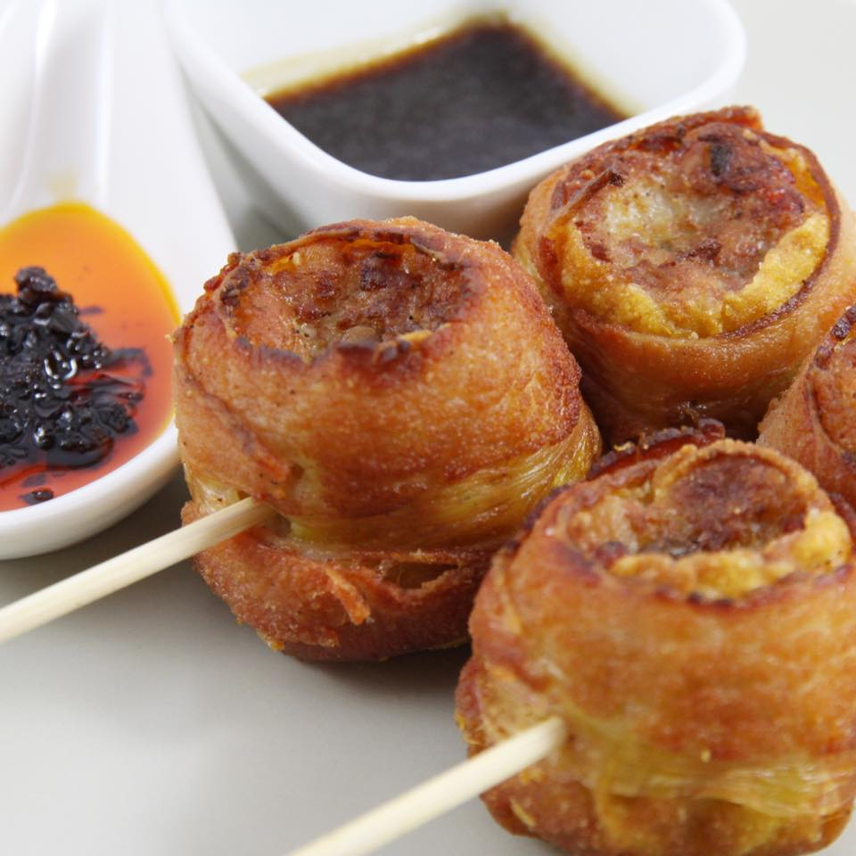 Bacon wrapped Siomai