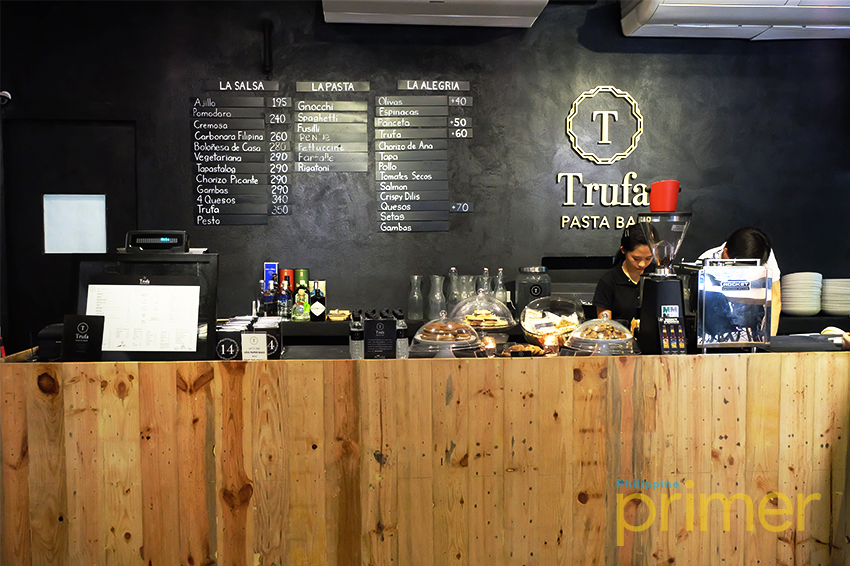 Experience pasta goodness in many ways at trufa pasta bar for Food bar experience