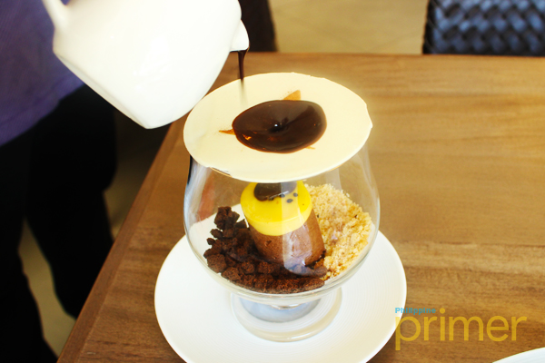 End Your Meal With One Of Their Signature Desserts: The Anzani Prime  Passion Petit Gateaux In Chocolate Stream (P480).