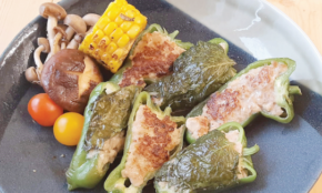 Philippine Primer Cooks: Quick and Easy Japanese-style Stuffed Bell Peppers