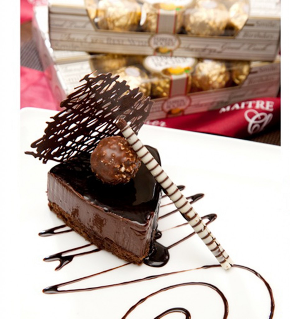 Ferrero Hazelnut Crunch Cake