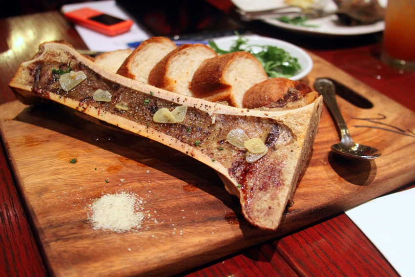 Village Tavern_Roasted Bone Marrow with sourdough toast and kosher salt