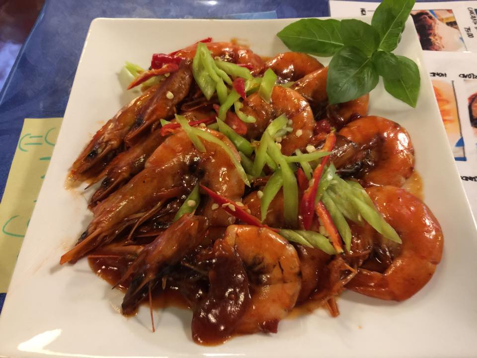 4). Sweet Chili Garlic Prawn - P199