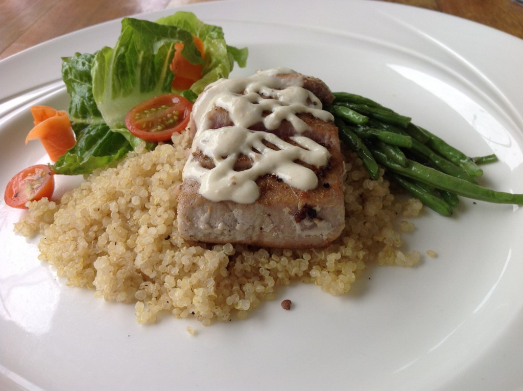 Catch of the Day with Organic Quinoa. Roasted Vegetables in Season and Citrus Vinaigrette Pic 5_re