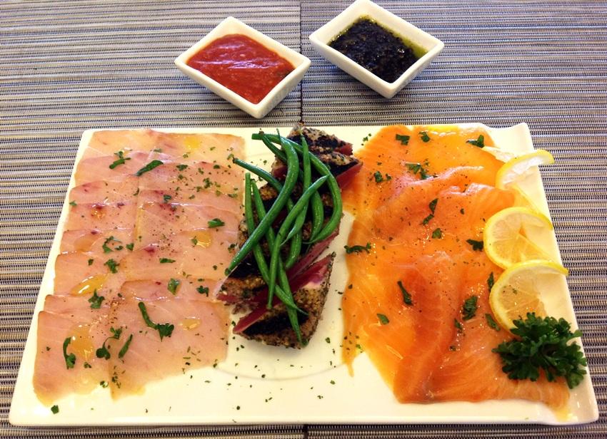 Fresh Fish Platter (Smoked Salmon, Smoked Blue Marlin and Seared Tuna) Pic 8