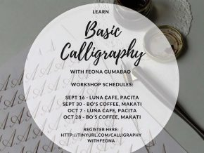 Basic Calligraphy Workshop with Feona Gumabao