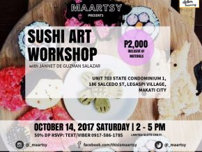 Sushi Art Workshop presented by MAARTSY