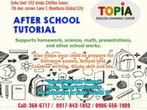 Topia English Learning Center: Arts, Music, and Academics in one