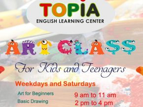 Topia English Learning Center's Open Art Class for Children