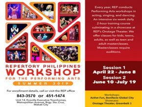 Repertory Philippines Hosts Workshops for the Performing Arts