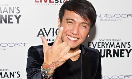 Arnel Pineda, singer of Journey, at 2012 Tribeca film festivalH