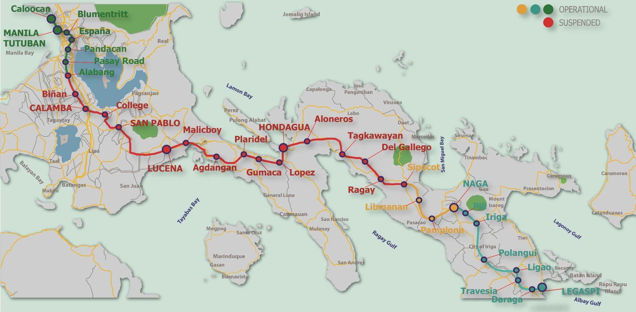 Expats Guide PNR Stations Philippine Primer - Legazpi city map