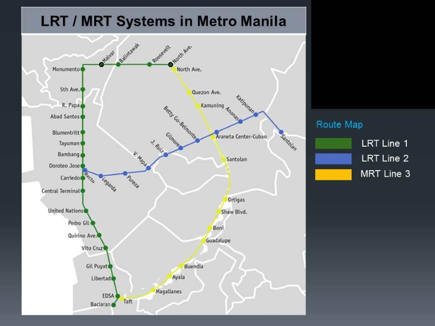 Guide To LRT Stations In Manila Philippine Primer - Us embassy manila map