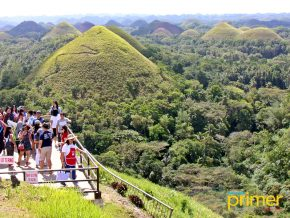 The Chocolate Hills in Carmen Remains a Picturesque Landmark of Bohol