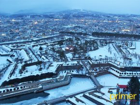 Goryokaku Park in Hakodate Gives You a 360-Degree View of the Snow-Covered Star-Shaped Park!