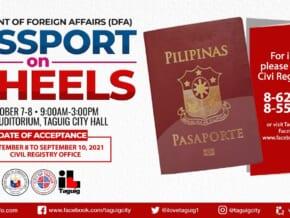 LOOK: DFA, Taguig offer 'PASSPORT ON WHEELS' on October 7-8