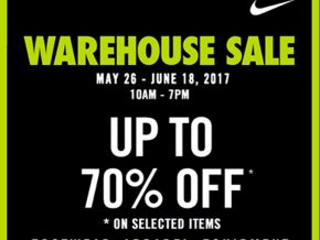 Nike Park Warehouse Sale on May 26 to June 18